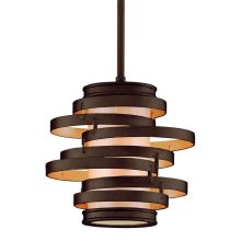 Vertigo 1 Light Modern Pendant with Hand Crafted Iron Frame and Caramel Ice Diffuser