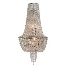 3 Light Ornate Wall Sconce with Jewelry Chain and Crystal Beads from the Vixen Collection