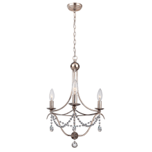 Metro 3 Light Single Tier Adjustable Chandelier