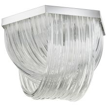 Galicia 3 Light Semi-Flush Ceiling Fixture with Glass Shade