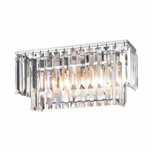 2 Light Bathroom Vanity Light with Crystal Shades from the Palacial Collection
