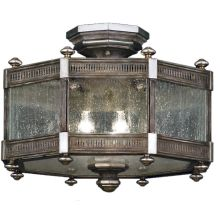 "Villa Vista 20"" Diameter Three-Light Semi-Flush Mount Ceiling Fixture"