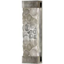 Crystal Bakehouse 7x24 Two-Light Wall Sconce with Rectangular Crystal River Stones Fused Glass Panel