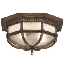 2 Light Outdoor Flush Mount Ceiling Fixture from the Holland Park Collection