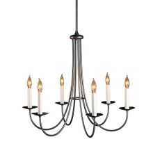 "Simple Lines 6 Light 26"" Wide Candle Style Chandelier"