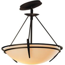 2 Light Semi-Flush Ceiling Fixture with Bowl Glass Shade from the Presidio Tryne Collection