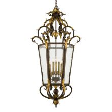 8 Light Lantern Pendant from the Zaragoza Collection