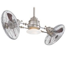 "42"" Sweep 6 Blade Vintage Gyro Indoor Twin Turbo Fans with Blades and Integrated Light Included"