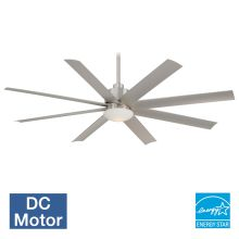"65"" 8 Blade Indoor / Outdoor Ceiling Fan with Blades and Light Kit Included"