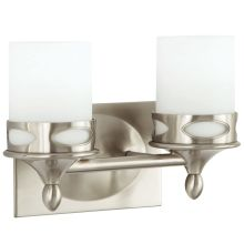 "Hogue 12"" Wide 2 Light Bathroom Fixture"