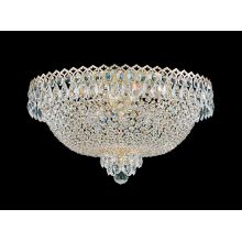 "19 1/2"" Wide 6 Light Flush Mount Ceiling Fixture From The Camelot Collection"
