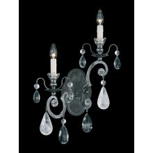 "4 1/2"" Wide 2 Light Candle-Style Wall Sconce from the Renaissance Rock WB Collection"