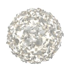 8 Light Recycled Aluminum Semi-Flush Ceiling Fixture from the Pinwheel Collection