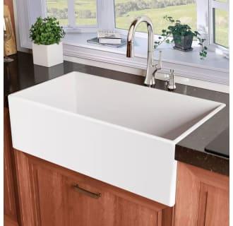 Miseno Mno3020bfc White Inferno 30 Single Basin Farmhouse Fireclay Kitchen Sink Miseno Com