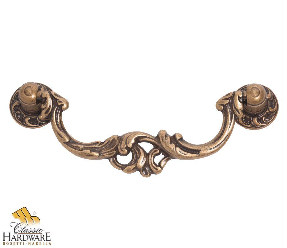 bosetti marella dark antique brass louis xv 3 1 2 inch center to center drop cabinet. Black Bedroom Furniture Sets. Home Design Ideas