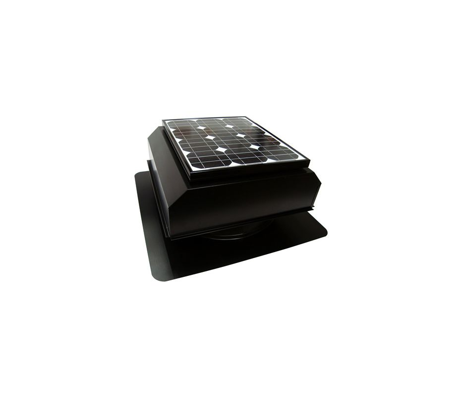 Attic Breeze Ab 202a Blk Black 1350 Cfm Roof Mounted Self