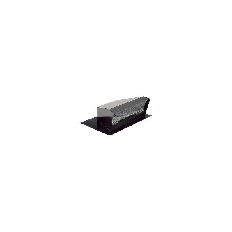 Broan 437 Black High Capacity Black Steel Roof Cap With