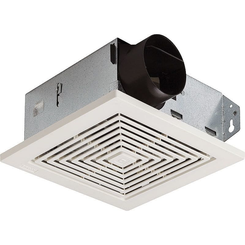 Broan 671 white 70 cfm 6 sone ceiling or wall mounted hvi for 7 bathroom exhaust fan