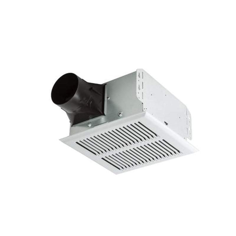 Broan a80hd white invent series 80 cfm 2 sone ceiling - Broan 80 cfm bathroom fan with light ...