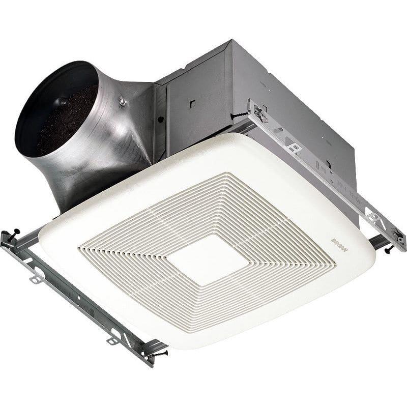 Shop Broan 0 3 Sone 110 Cfm White Bathroom Fan Energy Star: Broan ZB110 White 110 CFM 0.3 Sone Ceiling Mounted Energy