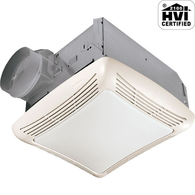 Nutone 769rft White 70 Cfm 3 Sone Ceiling Mounted Hvi Certified Bath Fan With Fluorescent