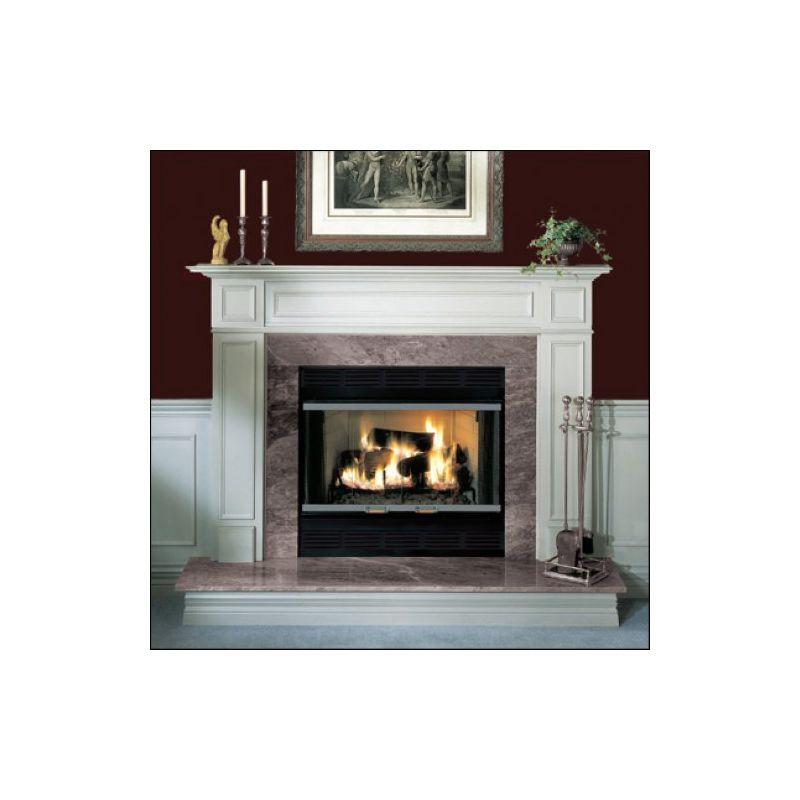 """Majestic BR42 Black 42"""" Radiant Wood Burning Fireplace"""