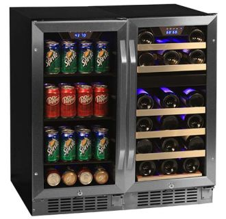 30 inch wide 26 bottle 80 can sidebyside wine and beverage center